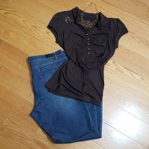Jones New York curvy straight jeans size 16